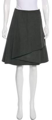 Cacharel Layered Knee-Length Skirt