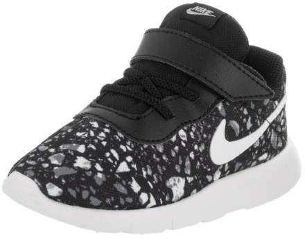 Nike Toddlers Tanjun Print (TDV) Black/White Wolf Grey White Running Shoe 8 Infants US