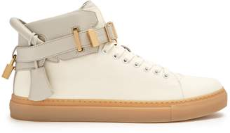 Buscemi 100mm Buckle high-top canvas trainers