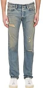 Simon Miller Men's M001 Distressed Slim Jeans-Blue Size 30w 32l