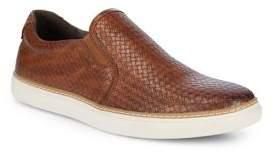 Black & Brown Black Brown Weave-Around Sneakers