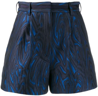 Kenzo wave patterned shorts