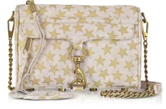 Rebecca Minkoff Nude and Golden Stars Mini MAC Clutch/Shoudler Bag