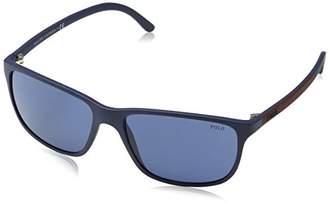 Polo Ralph Lauren Men's 0Ph4092 550680 58 Sunglasses