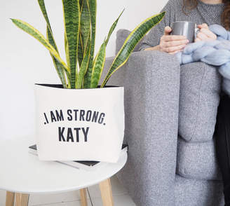 Equipment Tillie Mint Loves Personalised Canvas Plant Pot 'I Am Strong'