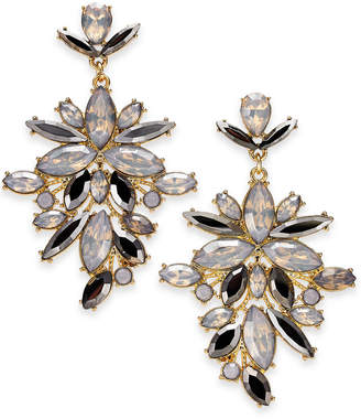 """INC International Concepts I.n.c. Extra Large Gold-Tone Crystal Statement Earrings, 2.75"""""""