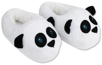 JuJu Smiling Cute Panda Slippers Plush Cotton Cute Funny Soft Warm Comfortable Indoor Bedroom Shoe For Big Kids & Women With Footpads New