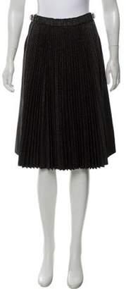 David Szeto Silk-Wool Pleated Skirt w/ Tags Black Silk-Wool Pleated Skirt w/ Tags