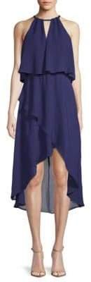 Saks Fifth Avenue BLACK Hi-Lo Blouson Dress
