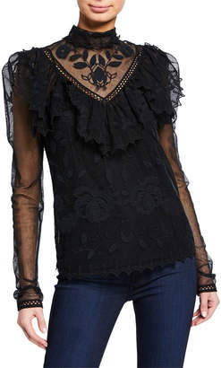 See by Chloe Long-Sleeve Victorian Lace Blouse