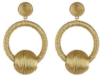 Suzanna Dai Silk Wrapped Earrings