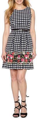 R & K Originals Sleeveless Party Dress-Petite