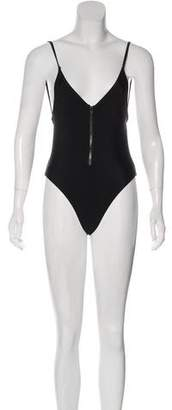 Fox Backless One-Piece Swimsuit