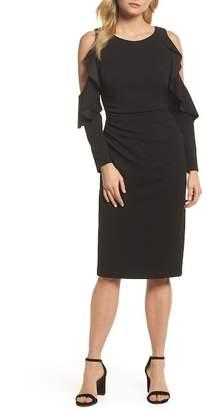 Maggy London Cold Shoulder Midi Dress