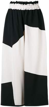 Henrik Vibskov cropped two-tone trousers