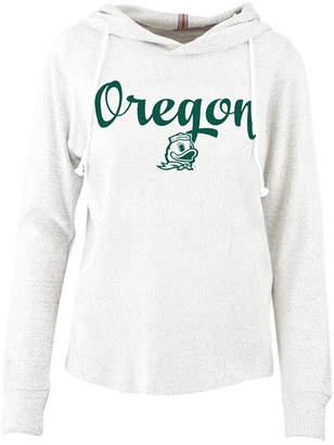 Pressbox Women Oregon Ducks Cuddle Knit Hooded Sweatshirt