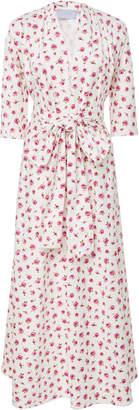 Luisa Beccaria Rose Print Midi Dress