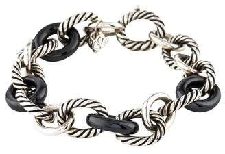 David Yurman Ceramic Large Oval Link Bracelet