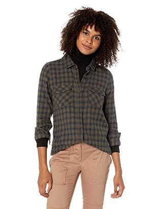 O'Neill Women's Jordie Woven Button Down Plaid Shirt