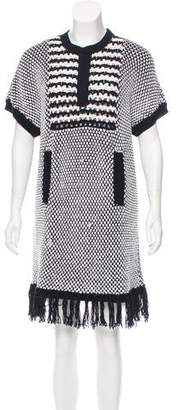 Thakoon Fringe-Trimmed Knit Dress