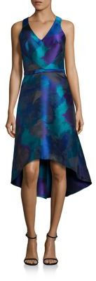 Theia Sleeveless Hi-Lo Dress $650 thestylecure.com