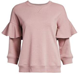 RED Valentino Ruffle Jersey Sweatshirt