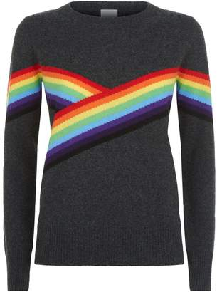 Madeleine Thompson Bebe Striped Cashmere Sweater