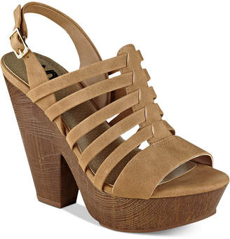 G by Guess Seany Platform Sandals Women's Shoes $59 thestylecure.com
