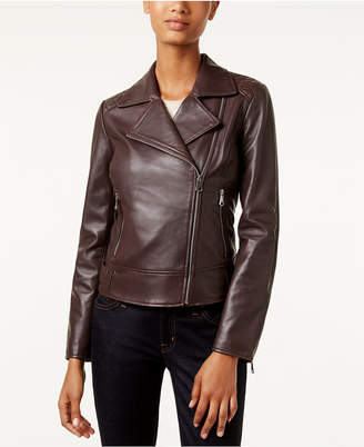 Marc New York Leah Leather Moto Jacket $420 thestylecure.com