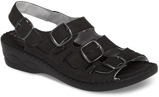 David Tate Luna Slingback Wedge Sandal