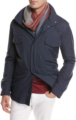 Loro Piana Traveler Windmate Storm System Jacket, Dark Blue