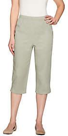 Denim & Co. Original Waist Stretch Capri Pantsw/Side Pockets