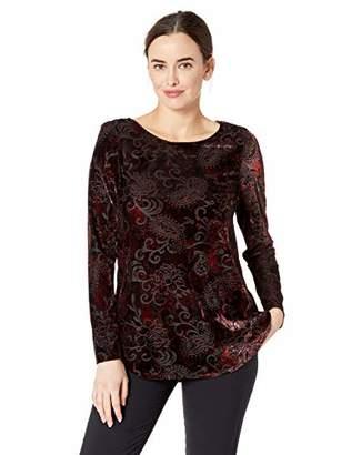 Karen Kane Women's Velvet Burnout Shirttail TOP