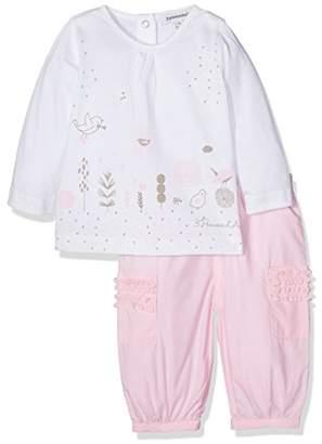 3 Pommes Baby Girls' Pink Clothing Set,(Manufacturer Size:3M/6M) Pack of 2