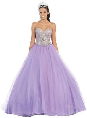 Asstd National Brand Strapless Sweetheart Ball Gown - Juniors