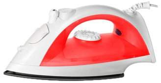 Beauty America RemedyHealth Handheld Non-Stick Coated Sole Plate Steam Iron (Red)