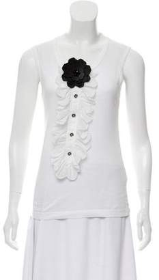 Dolce & Gabbana Flower Accented Sleeveless Top