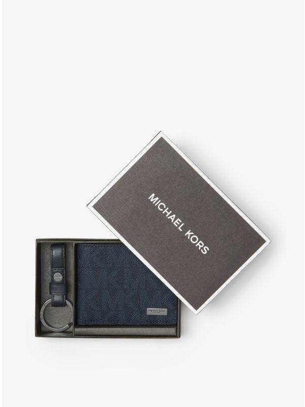 Slim Billfold Wallet and Keychain Set
