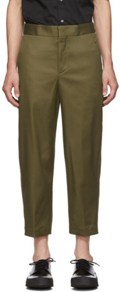 Neil Barrett Khaki Carrot Fit Trousers