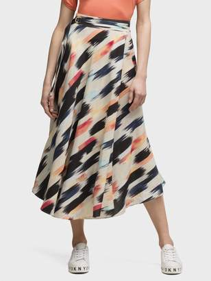 DKNY Printed Midi Skirt