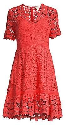 Shoshanna Women's Toscana Lace Eyelet A-Line Dress - Size 0