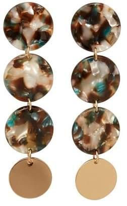 Violeta BY MANGO Circular pendant earrings