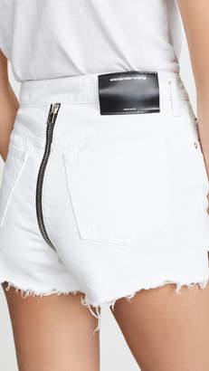 Alexander Wang Denim x Bite Zip Shorts