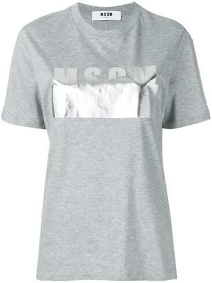 MSGM metallic logo T-shirt