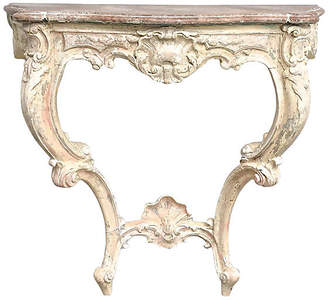 One Kings Lane Vintage Carved Wall Console
