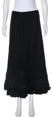 DKNY Wool Midi Skirt
