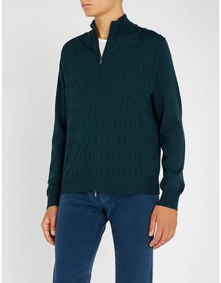 Corneliani Zipped wool jumper