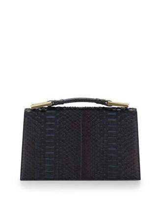 Jason Wu Charlotte Origami Python & Leather Evening Clutch Bag, Navy $4,395 thestylecure.com