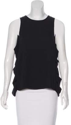 BCBGMAXAZRIA Sleeveless Cutout Top