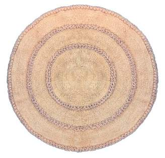"""Butter Shoes Home Weavers Inc Bloomfield Bath Rug 28"""" ROUND LINEN"""